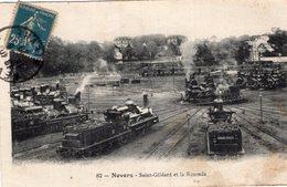 "3549 Cpa Nevers - Saint Gildard Et La Rotonde "" Train "" - Nevers"