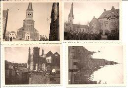 4 Foto's  Duitse Militairen GENT  En Oost Vlaanderen 1940/45  1260  82 X 58 Mm Elk - 1939-45