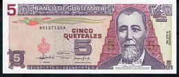 GUATEMALA P81 5 QUETZALES 1992 UNC. - Guatemala