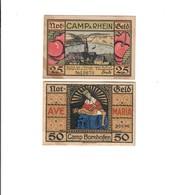 Germany Camp Bornhofen Il Reno  Notgeld 25 + 50 Pfennig 1921 Lotto.1433 - [ 3] 1918-1933: Weimarrepubliek
