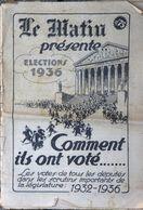 Le Journal Le Matin Présente Les élections 1936 - Comment Ils Ont Voté: Votes Des Députés Dans Scrutins 1932-36 - Other