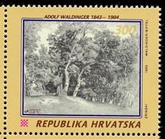 HR 1993-247 150A°ADOLF WALDINGER, CROATIA HRVATSKA, 1v, MNH - Bäume