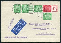 1938 Germany Berlin Charlottenburg 32pf Rate Airmail Rohrpost Cover - Uriele Savignano Bei Gohrisch, Munich - Deutschland