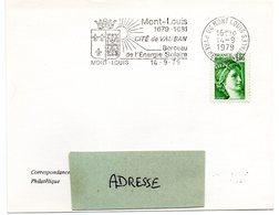 HERALDIQUE = 66 MONT LOUIS 1979 = FLAMME SECAP  Illustrée D' ARMOIRIES 'CITE DE VAUBAN BERCEAU DE L ENERGIE SOLAIRE ' - Marcophilie (Lettres)