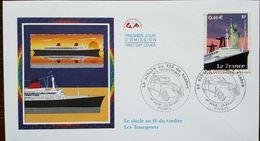 FDC  2002 - YT N°3473 - LE SIECLE AU FIL DU TIMBRE  PAQUEBOT LE FRANCE - PARIS - Barche
