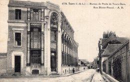 S2578 Cpa 37 Tours - Bureau De Poste Tours Gare, Rue Blaise Pascal - Tours