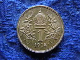 AUSTRIA 1 CORONA 1914, KM2820 XF - Oesterreich