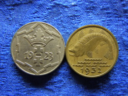 DANZIG 10 PFENNIG 1923 KM143, 1932 KM152 - Polen