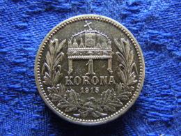 HUNGARY 1 CORONA 1915, KM492 Cleaned - Ungarn