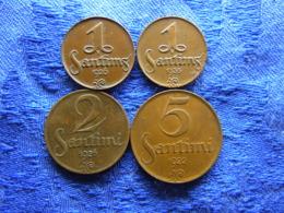 LATVIA 1 SANTIM 1926, 1935, 2 SANTIMI 1926, 5 SANTIMI 1922, KM1-KM3 - Lettland