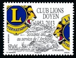 ST-PIERRE ET MIQUELON 2013 - Yv. 1088 **  - Club Lions Doyen De SPM  ..Réf.SPM11651 - St.Pierre & Miquelon