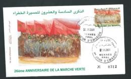 Fdc Maroc Yvert N° 1295 , Obli 1er Jour Meknes 07/11/2002     -   Aoa 19401 - Marruecos (1956-...)