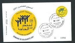 Fdc Maroc Yvert N° 1269 , Obli 1er Jour Meknes 08/11/2001     -   Aoa 19405 - Marruecos (1956-...)