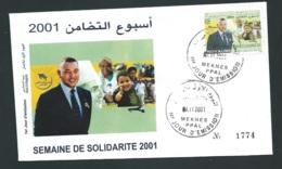 Fdc Maroc Yvert N° 1296 , Obli 1er Jour Meknes 29/11/2001     -   Aoa 19408 - Marruecos (1956-...)