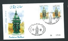 Fdc Maroc Yvert N° 1298 , Obli 1er Jour Meknes  14/12/2001   ( Emission Jumelée ) -   Aoa 19415 - Marruecos (1956-...)