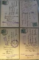WW1 Albania - 4 Cartoline Annullo Comando Truppe Albania Meridionale Viaggiate 1918 - Guerra 1914-18