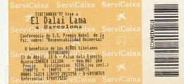 EL DALAI LAMA A BRCELONA - TIBETANIA'97 - CONFERENCIA ... RESPONSABILIDAD UNIVERSAL - Tickets - Entradas