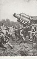 Rare Cpa Allemands Tirant Une Grosse Pièce Artillerie - 1914-18