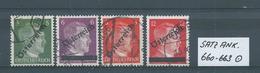 SATZ ANK. 660 - 663  Gestempelt Siehe Scan - 1945-60 Oblitérés