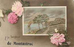 - Dpts Div -ref-AL443- Haute Garonne - Montastruc - Un Bonjour De .. - Souvenir De .. - Carte Bon Etat - - Montastruc-la-Conseillère