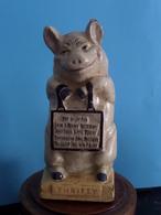 PIG - VARKEN - COCHON / SPAARPOT - TIRELIRE - THRIFTY ** R A R E ** CAST IRON FONTE GIETIJZER ( +/- 1.3 Kg. / H 16 Cm. ) - Altri