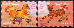VIETNAM 2005 - 2v - MNH - Withdrawn Stamps - Jahr Des Hundes - Dogs - Chiens 狗年 Astrology Astrologie Год собаки Perros - Astrologie