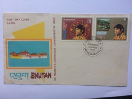 Bhutan 1974 Coronation FDC - Bhutan