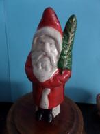 SANTA CLAUS / Père Noël SPAARPOT - TIRELIRE - THRIFTY ** R A R E ** CAST IRON FONTE GIETIJZER ( +/- 405 Gr. / H 14 Cm. ) - Autres Collections