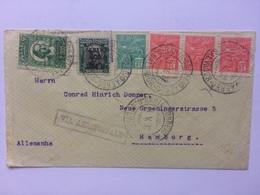 BRAZIL 1932 Air Mail Cover Salvador Bahia To Hamburg - Via Aeroportale Cachet - Lettres & Documents