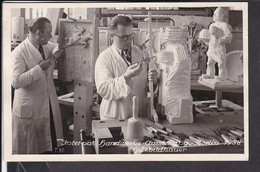 Ansichtskarte Internat. Handwerks Ausstellung Berlin 1938 Sonderstempel , Holzbildhauer - Allemagne