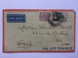 BRAZIL 1935 Air Mail Cover Sao Paulo To Paris - Brésil