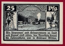 Allemagne 1 Notgeld De 25 Pfenning Stadt Schmiedefeld (RARE) Dans L 'état N °4575 - Verzamelingen
