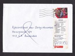 Netherlands: Cover, 1997, 1 Charity Stamp, Children, Returned, Retour Label PTT Post (minor Damage) - Periode 1980-... (Beatrix)