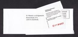 Netherlands: Wrapper, 2000s, Postage Paid, Label Delayed Incorrect Address, Inform Sender, PTT Post (minor Damage) - Periode 1980-... (Beatrix)