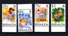 Bermudes 1994, Soins Hospitaliers, Medical,  Yv. 666 / 669 **, Cote 12,50 € - Bermudes