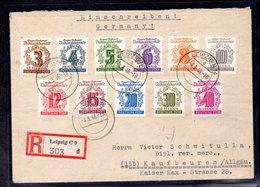 SBZ., West - Sachsen. R-Satz-Brief Mi.-Nr. 138-49 - Sowjetische Zone (SBZ)