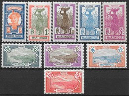 MARTINIQUE : SERIE COMPLETE N° 120/128 NEUVE * GOMME AVEC CHARNIERE - TRES FRAIS - Martinique (1886-1947)