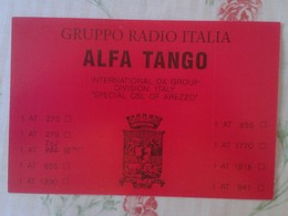 POSTAL TYPE POST CARD QSL RADIOAFICIONADOS RADIO AMATEUR GRUPPO ALFA TANGO ITALIA SPECIAL OF AREZZO TOSCANA TUSCANY VER - Tarjetas QSL