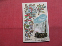 Embossed With Crests   Ontario > Niagara Falls      -ref    3574 - Cataratas Del Niágara