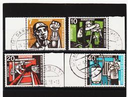 YZO843 DEUTSCHLAND - BRD 1957 Michl 270/73 Gestempelt SIEHE ABBILDUNG - Gebraucht