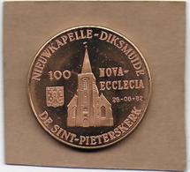 100 NOVA-ECCLECIA 1982 DIKSMUIDE NIEUWKAPELLE DE SINT-PIETERSKERK - Gemeentepenningen