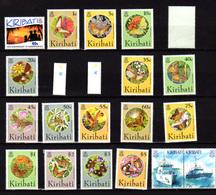 Kiribati 1994-95, Papillons, Bateaux, Dépareillés Entre 320 Et 370**, Cote 36 €, - Kiribati (1979-...)
