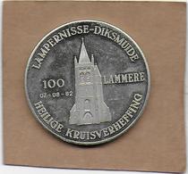 100 LAMMERE 1982 DIKSMUIDE LAMPERNISSE HEILIGE KRUISVERHEFFING - Gemeentepenningen