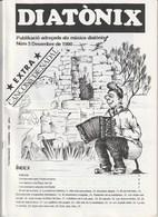 DIATONIX - PUBLIKACIO ADREÇADA ALS MUSICS DIATONIXS - NUM  3 - 1990 - CATALA - Libros, Revistas, Cómics