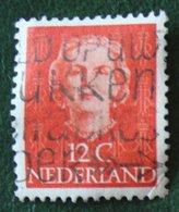 12 Ct (orange) Koningin Juliana EN FACE NVPH 521 (Mi 528) 1949-1951 1950 Gestempelt / Used NEDERLAND / NIEDERLANDE15 - 1949-1980 (Juliana)