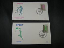 """BELG.1991 2402 & 2403 FDC's (Brux/Brus) : """" SPORT """" - 1991-00"""