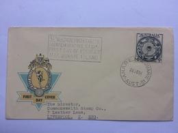 AUSTRALIA 1954 Antarctic FDC A.N.A.RE. Macquarie Island Postmark - Storia Postale