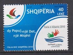 ALBANIA  2010    Cultural Festival Albania-Italia  - Set 1 Val. MNH** - Joint Issues