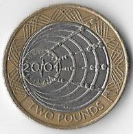 United Kingdom 2001 £2 Marconi [C309/1D] - 1971-… : Decimal Coins