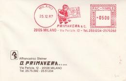 Italië 1987, Frankeermachinestempel Kerstmis, Nieuwjaar - Marcophilie - EMA (Empreintes Machines)